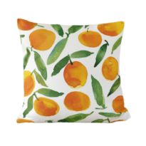 minted sweet oranges pillow